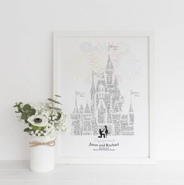 disney engagement picture frame - not on the high street, just engaged