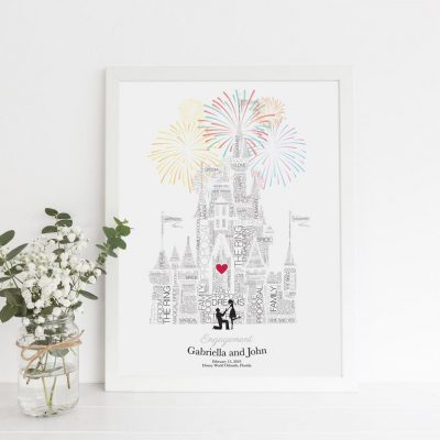 Disney wedding gift - Paper Anniversary Gift, Disneyland Paris, Disney Bride, Disney Proposal Signs, Fairytale Wedding, Gay engagement Disney