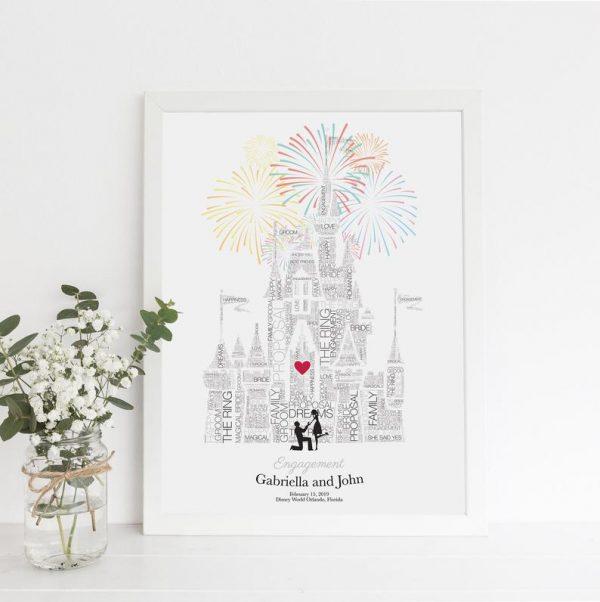 Disney wedding gift - Paper Anniversary Gift, Disneyland Paris, Disney Bride, Disney Proposal Signs, Fairytale Wedding, Gay engagement Disney