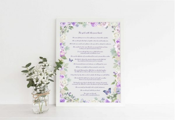 Custom Poem Print, Bespoke poem print uk