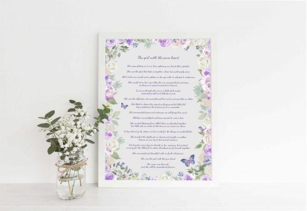 Custom Poem Print, Bespoke poem print uk