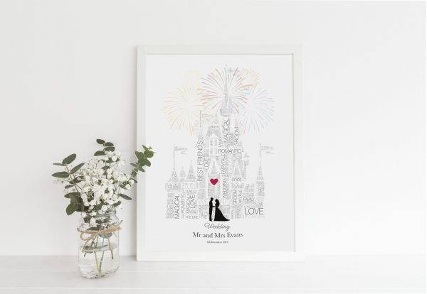 Disney wedding gift - Anniversary, Disney Wedding Gift, Fairytale Wedding, Disney Bride, Disney Wedding Sign, Disney, Gay LGBT Couple