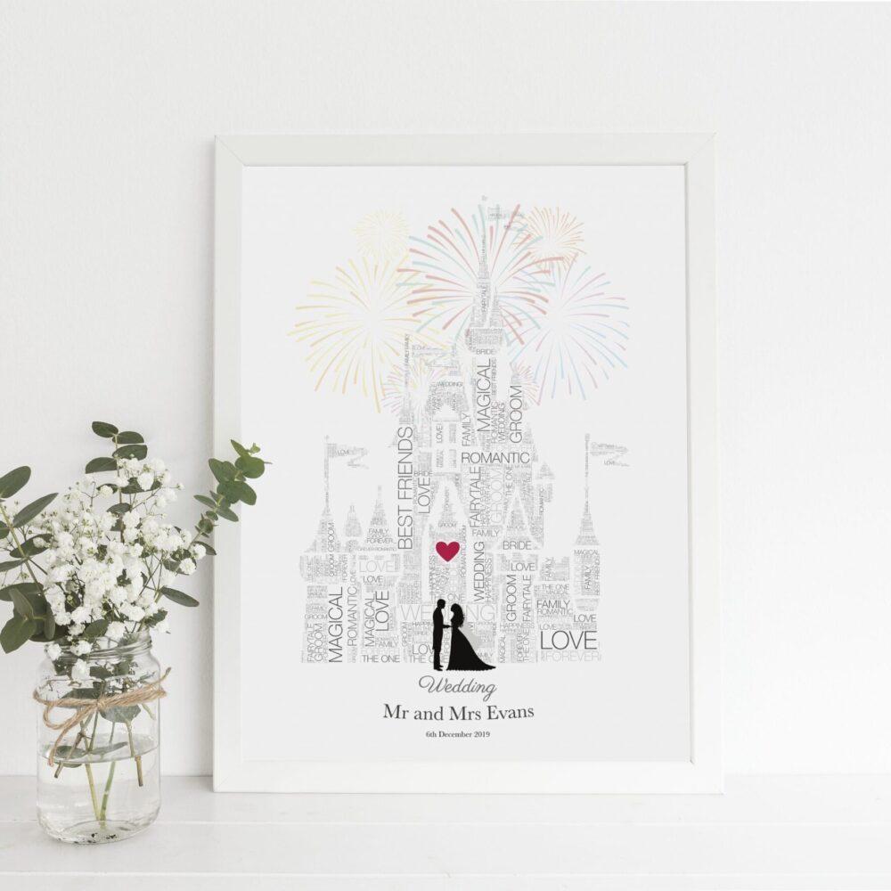 Disney wedding gift - Anniversary, Disney Wedding Gift, Fairytale Wedding, Disney Bride, Disney Wedding Sign, Disney, Gay LGBT Couple