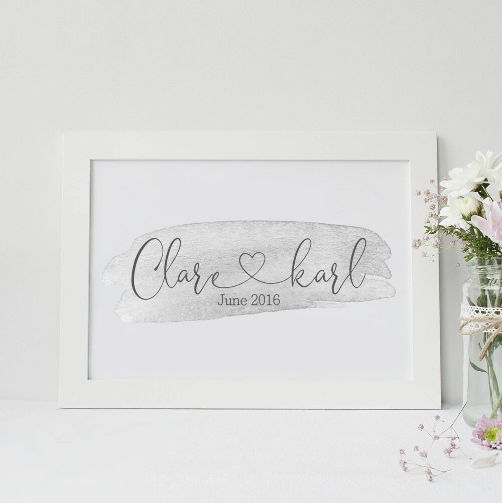 Personalised name and date print