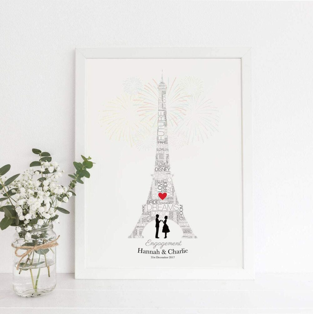 Personalised Paris engagement gift