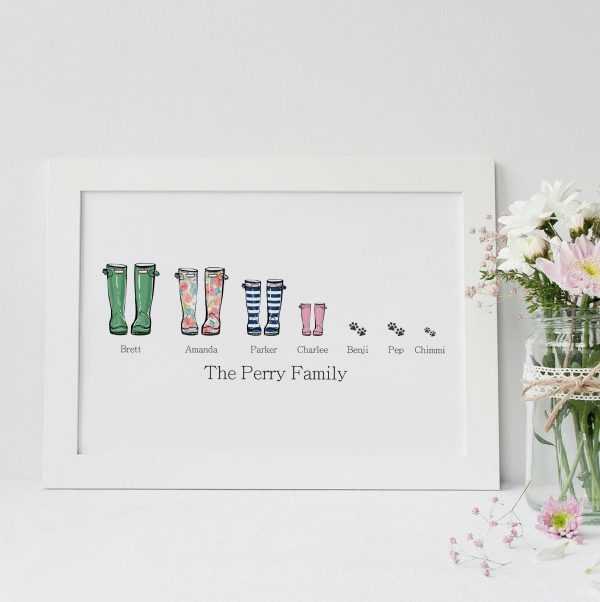 Personalised Family Wellies