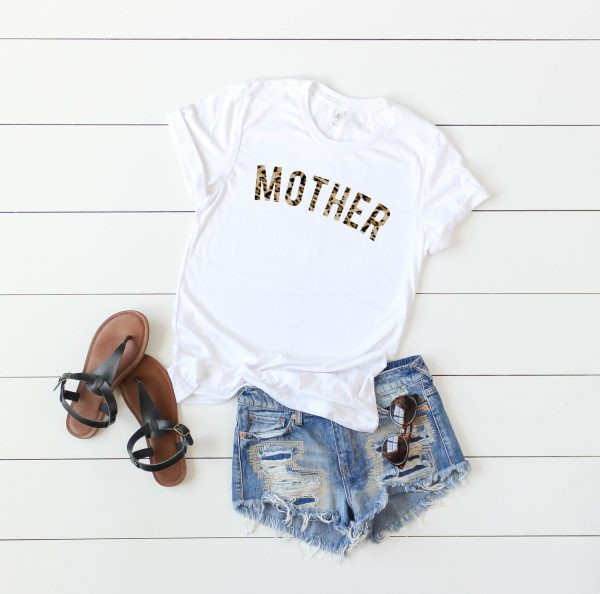 mother t-shirt in leopard print