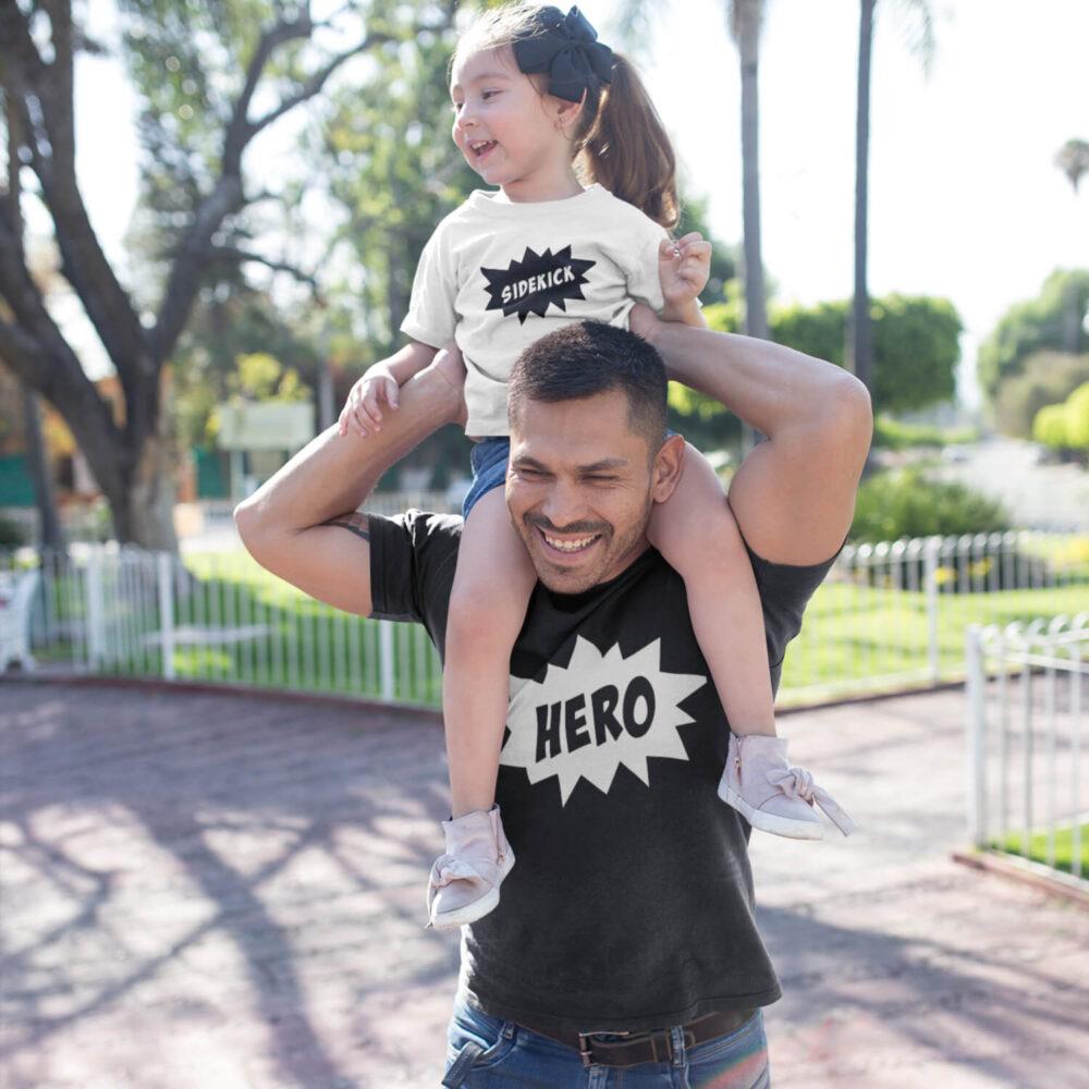 Hero Dad T-Shirt black