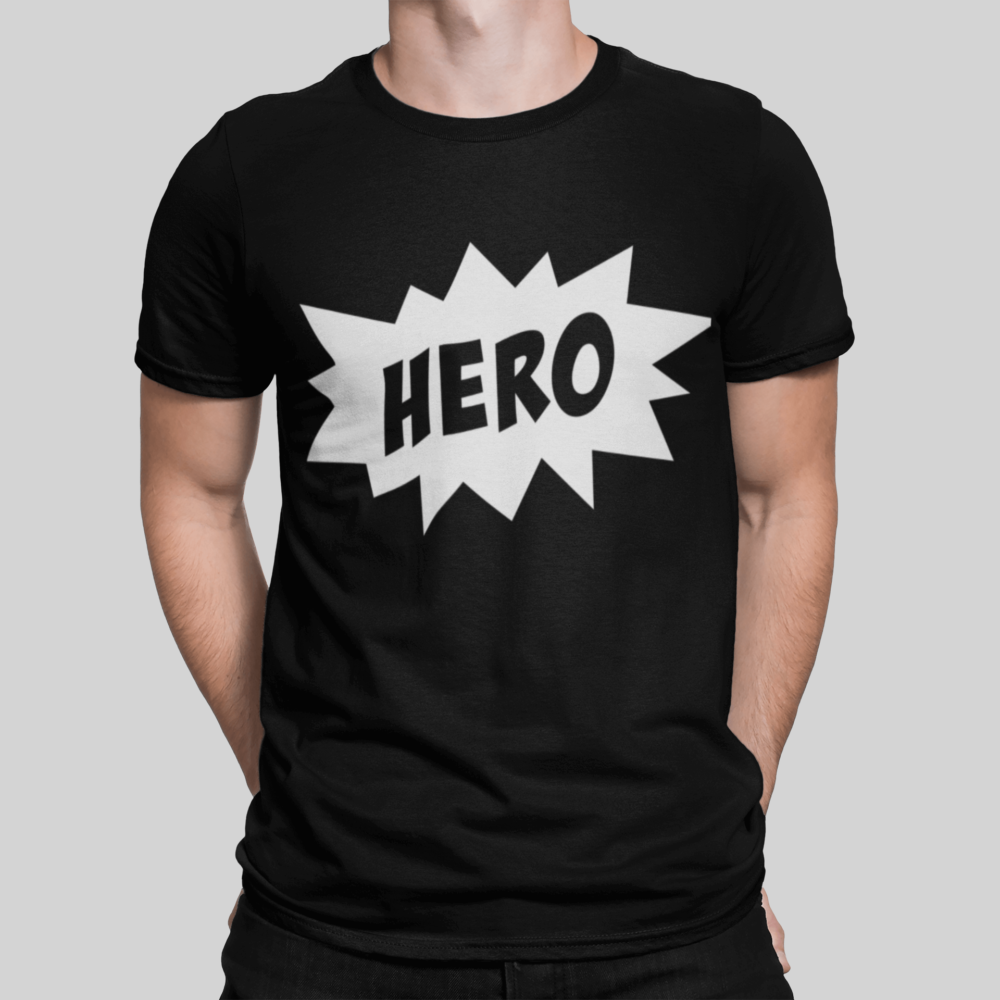 Hero Dad T Shirt black