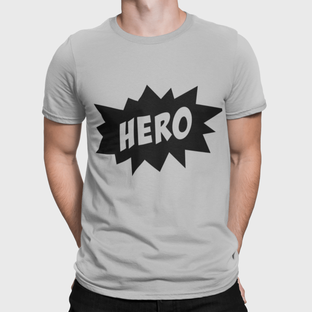 Hero Dad T Shirt grey