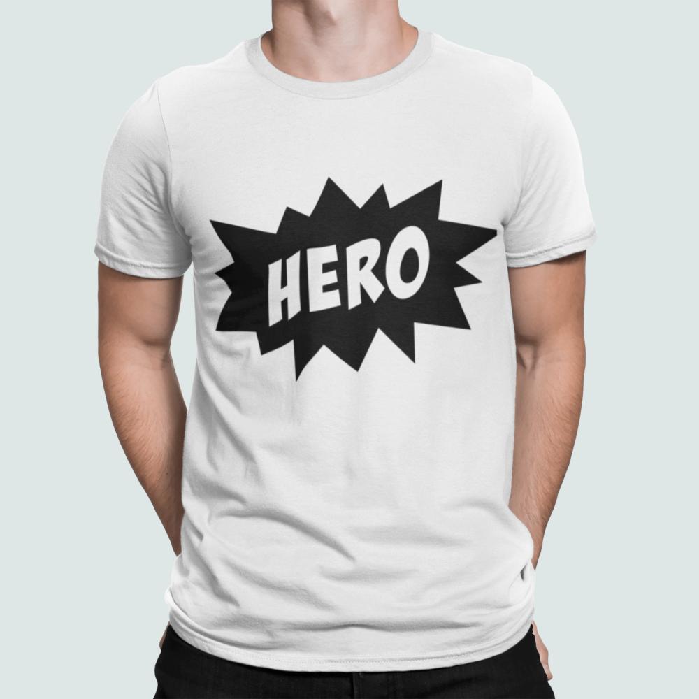 Hero Dad T Shirt white