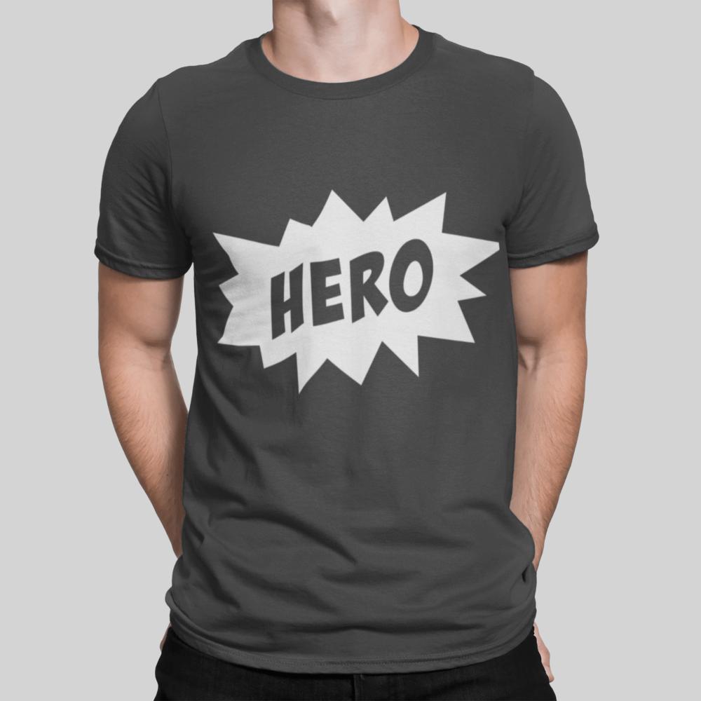 Hero Dad T Shirt zinc grey