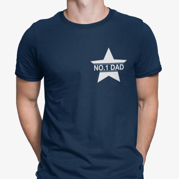 No 1 Dad deep navy