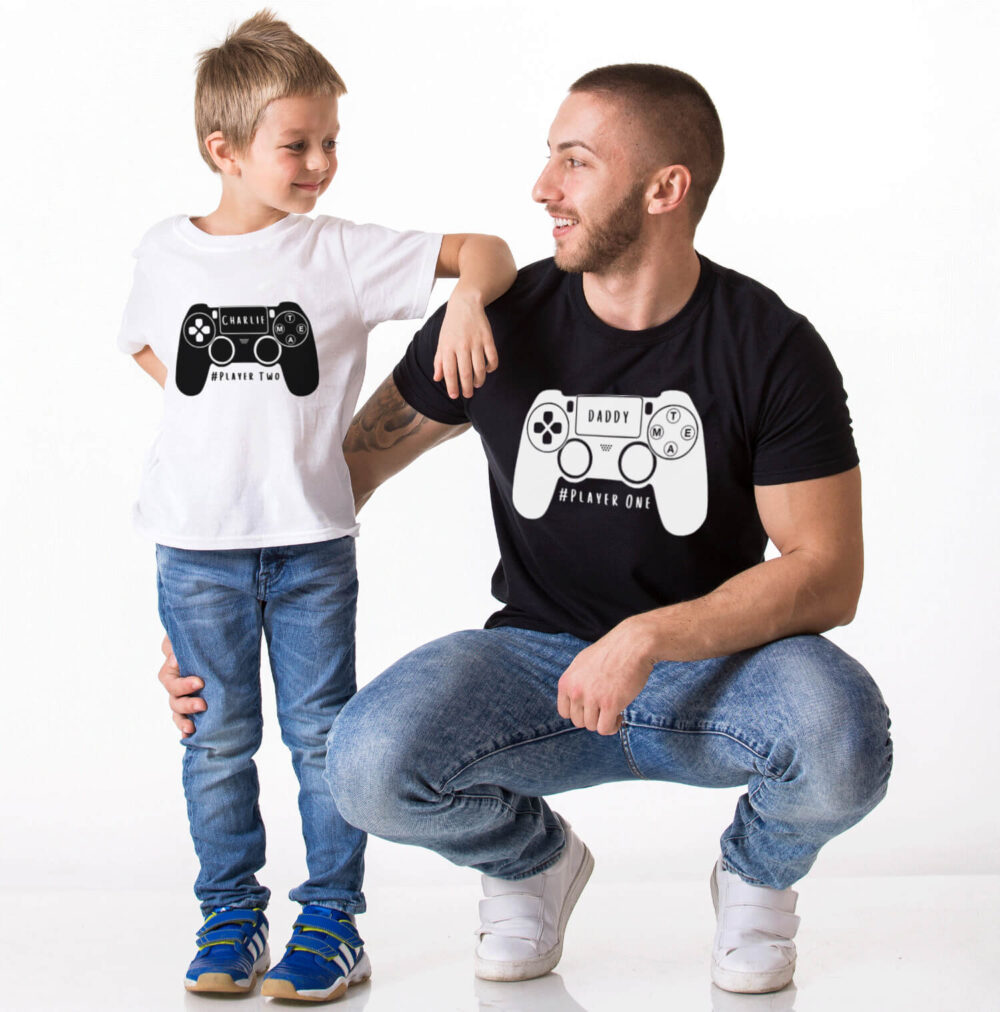 Daddy and Me PS4 Gamer T-Shirt Set