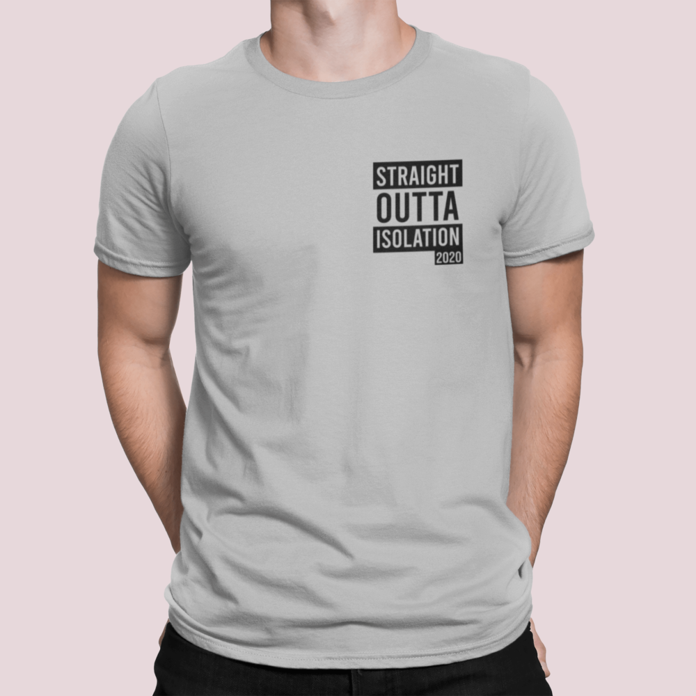Straight Outta Quarantine 2020 T Shirt grey zoc