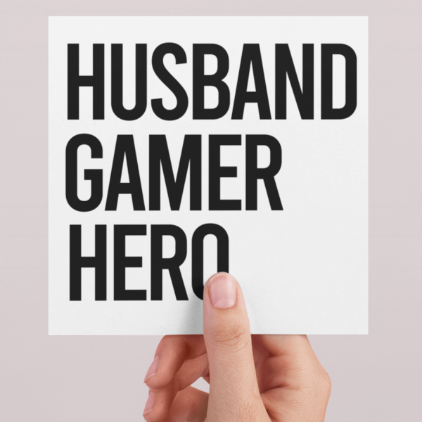Fathers Day Slogan Card GAMER