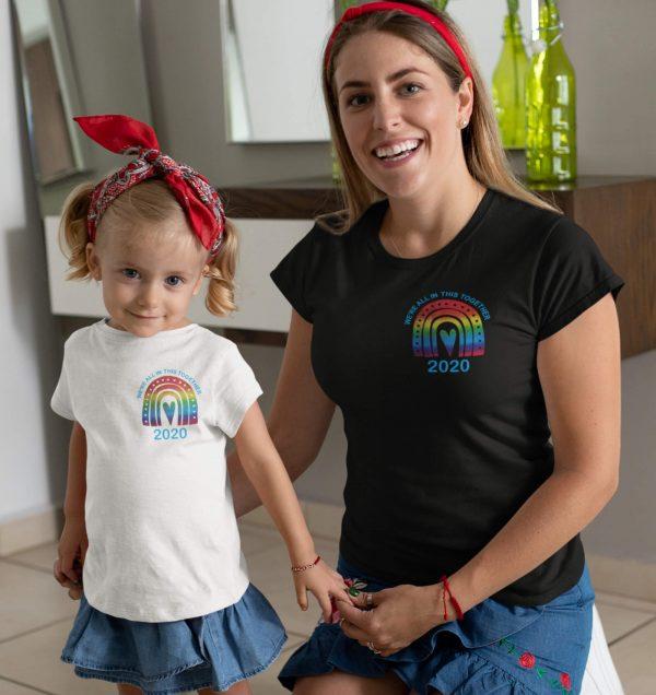 kids rainbow t shirt
