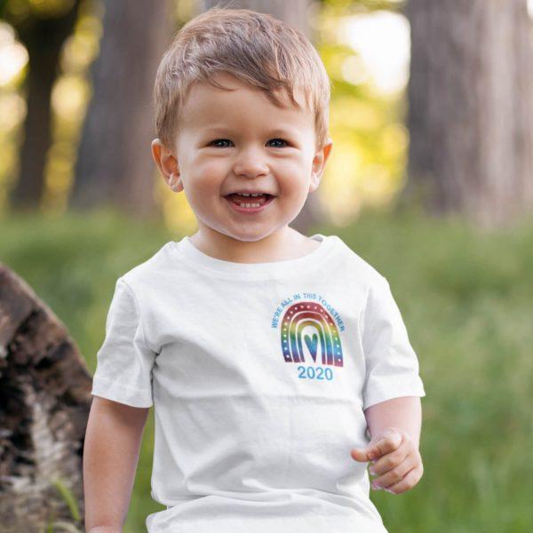 kids rianbow tshirt small