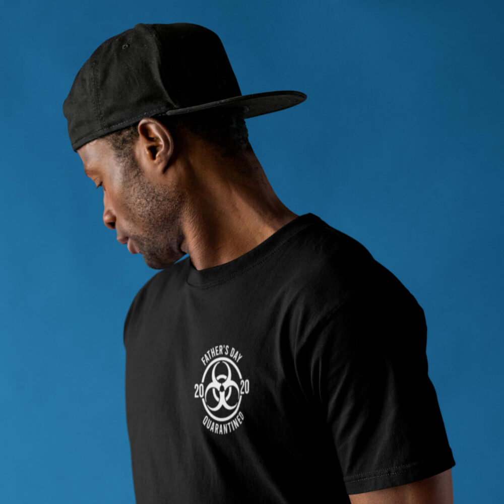 Father's Day 2020 Quzing-greyarantine T-Shirt-black