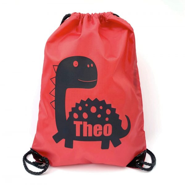 Personalised Kids Dinosaur Bag