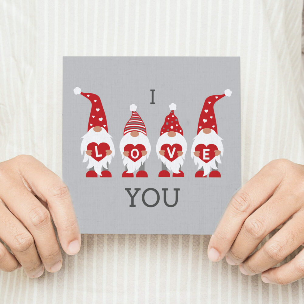 Gnome Love Valentines Card