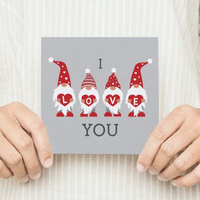 Gnome Love Valentines Card