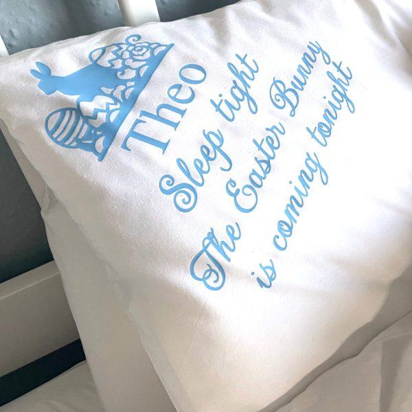 Personalised easter pillowcase