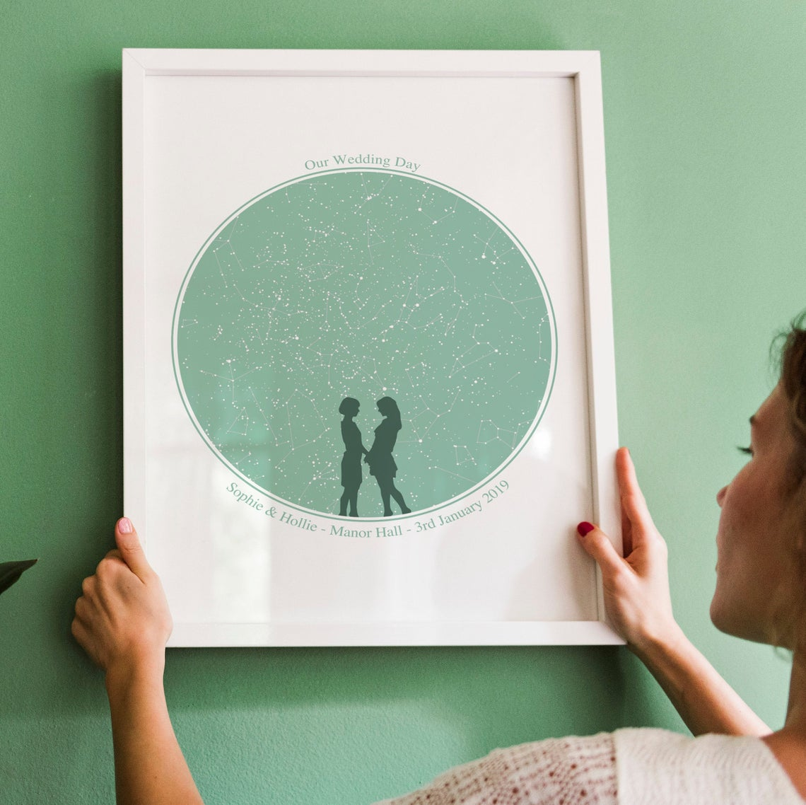 Personalised Star Map, Wedding Print, Custom Night Sky, Anniversary Gift, Constellation Map, Same Sex Wedding, Star Map Framed, Star Chart