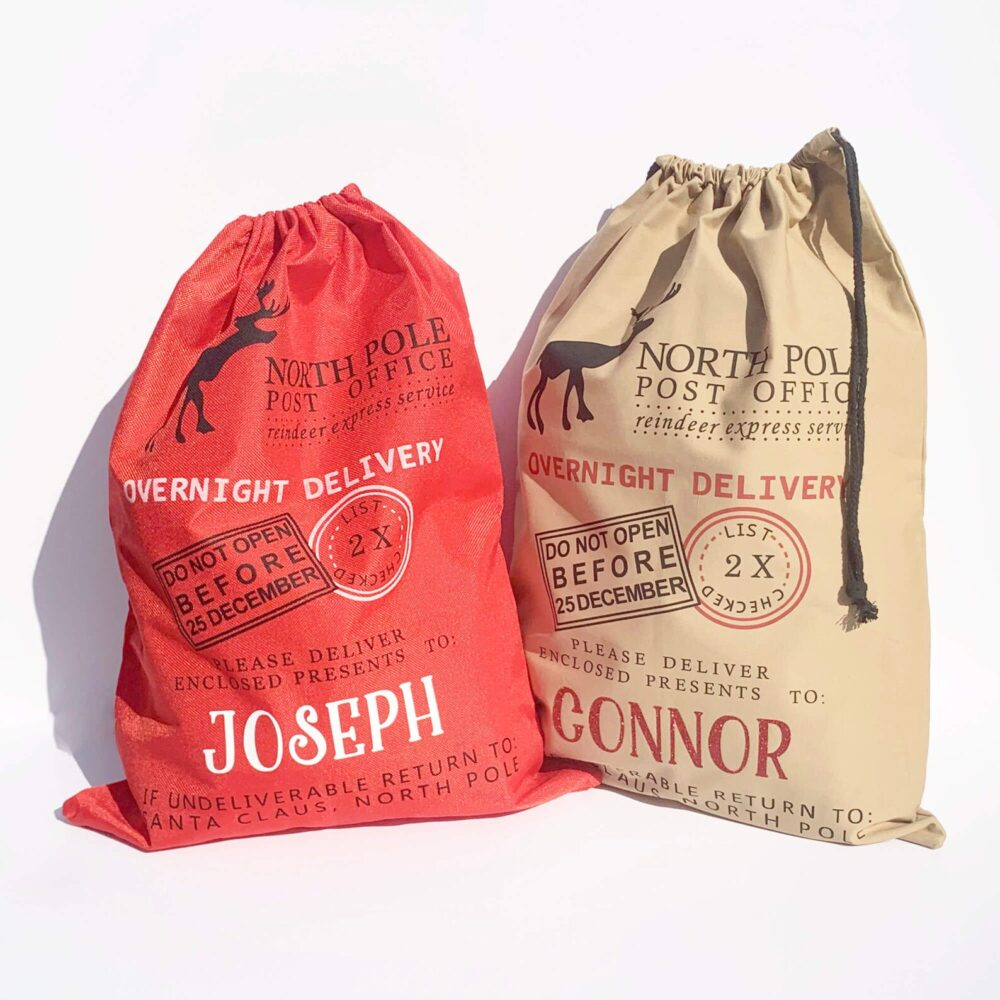 Personalised Christmas Sack in Red